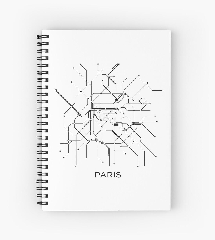 Paris Subway Map,Black & White Lines,Vintage Map Retro,Print Paris ...