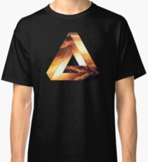 Abstract Geometry: Penrose Fire Storm (Burning Orange/Black) Classic T-Shirt