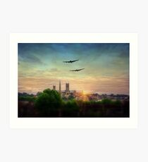 Lancaster Flyby Lincoln Cathedral Art Print