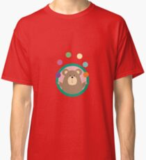 Juggling Brown Bear in circle Classic T-Shirt