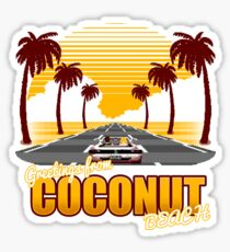 Greetings from Coconut Beach Sticker