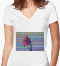 Sunflower Art Women's Fitted V-Neck T-Shirt