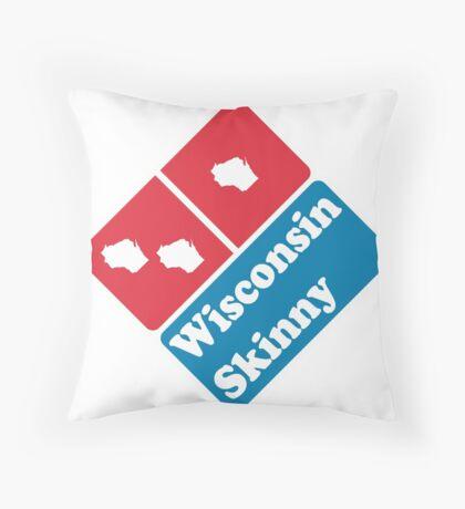 Wisconsin Skinny zaaaaa Throw Pillow