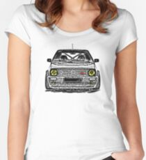 VW Golf 2 G60 Retro  Women's Fitted Scoop T-Shirt