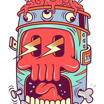 A Colourful Screaming Skull by ShahedM