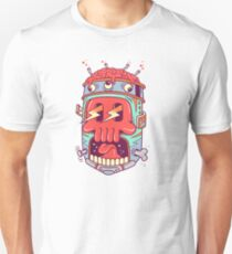 A Colourful Screaming Skull T-Shirt