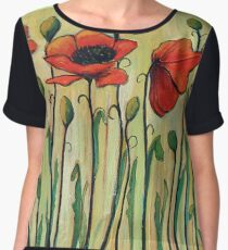 Eleven Red Poppies Chiffon Top