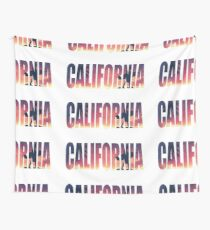 Vintage Filtered California Postcard Wall Tapestry