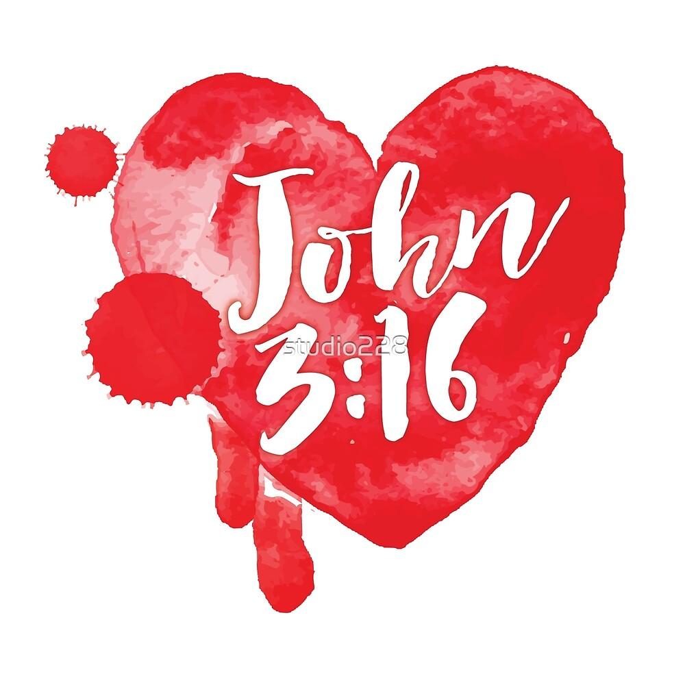 John 316 Heart By Studio228 Redbubble