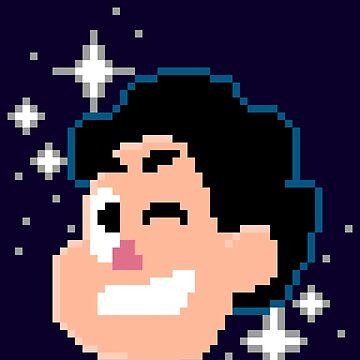 8bit Steven Universe WINK by rosemarydarling