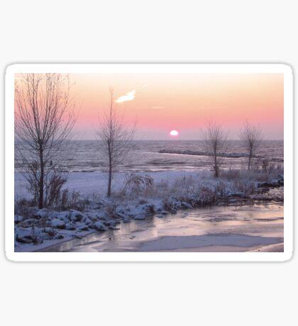 Winter Morning Sunrise Sticker
