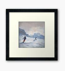 Last Run, Les Arcs Framed Print