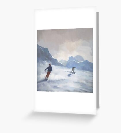 Last Run, Les Arcs Greeting Card