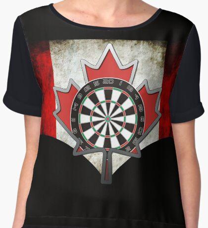 Darts Canada Women's Chiffon Top
