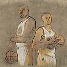 Curry and Durant by NBA-Scholar