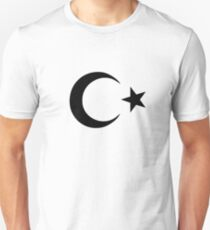 Halbmond und Stern Slim Fit T-Shirt