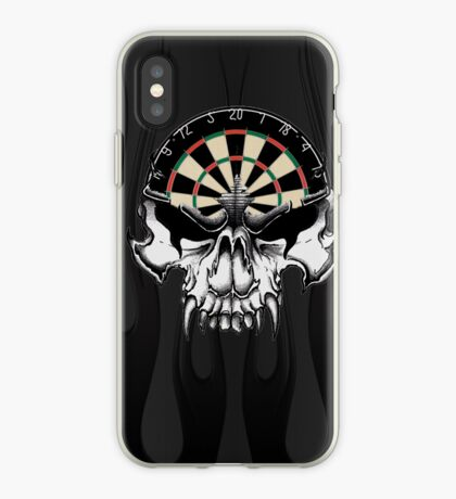 Darts Skull and Flames iPhone Case