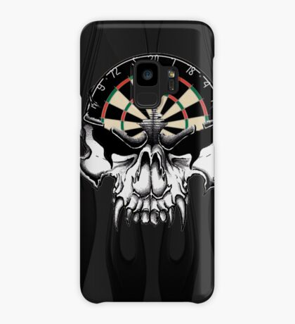 Darts Skull and Flames Case/Skin for Samsung Galaxy