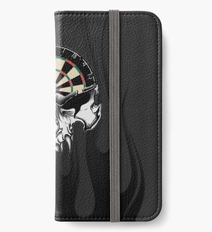 Darts Skull and Flames iPhone Wallet