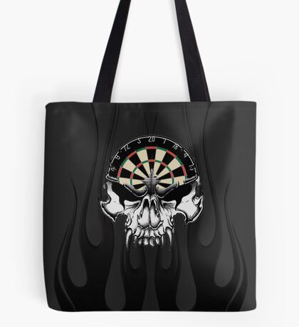 Darts Skull and Flames Tote Bag