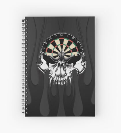 Darts Skull and Flames Spiral Notebook