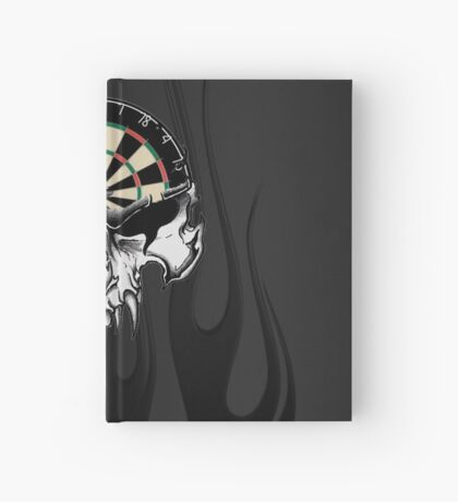 Darts Skull and Flames Hardcover Journal