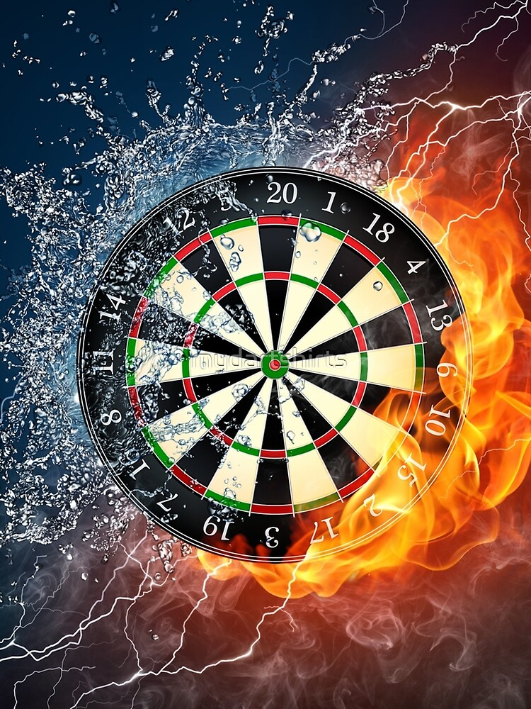 Fire And Ice Dartboard by mydartshirts