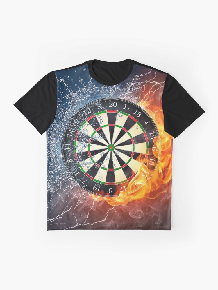 Alternate view of Fire And Ice Dartboard Graphic T-Shirt