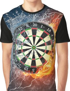 Fire And Ice Dartboard Graphic T-Shirt