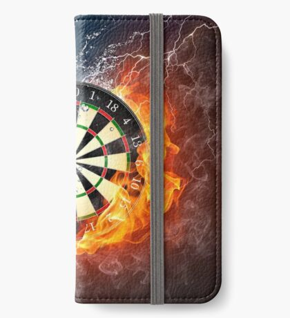 Fire And Ice Dartboard iPhone Wallet