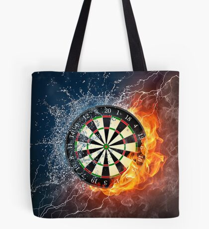 Fire And Ice Dartboard Tote Bag