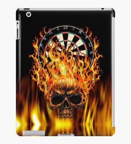 Flaming Skull Dartboard iPad Case/Skin