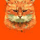 Orange Cat by grafoxdesigns