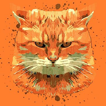 Orange Cat by grafoxdesigns