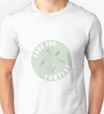 save the turtles badge  T-Shirt