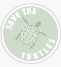 save the turtles badge  Sticker