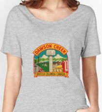 Dawson Creek BC Vintage Travel Decal Women's Relaxed Fit T-Shirt