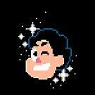 8bit Steven Universe WINK by Rosemary Black