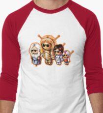 "SPACE GIANTS ""HAPPY FAMILY"" Pooterbellies DIE CUT Men's Baseball ¾ T-Shirt"