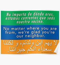 Welcome Your Neighbors - Spanish, English, Arabic Poster