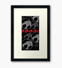 The Iconic Thundercats (black) Framed Print