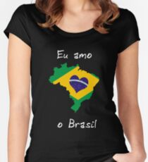 Eu Amo O Brasil Women's Fitted Scoop T-Shirt