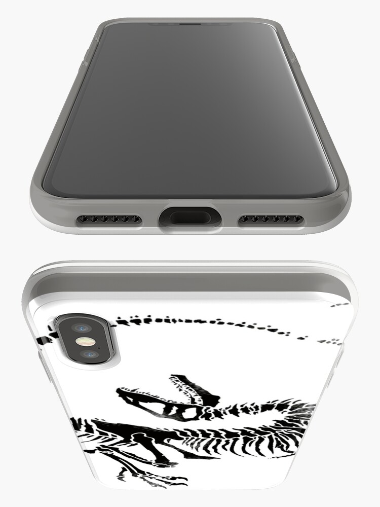 Vista alternativa de Funda y vinilo para iPhone Velociraptor Skeleton Print