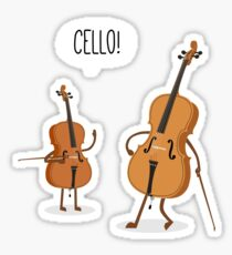 Cello! Sticker