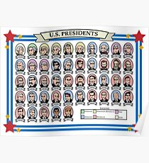 US-Präsidenten Poster