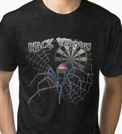 Black Widows Darts Shirt Tri-blend T-Shirt