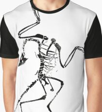 Archaeopteryx Skeleton Print Graphic T-Shirt