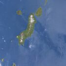 Kuril Island Chain Volcanic Islands Satellite Image by Jim Plaxco