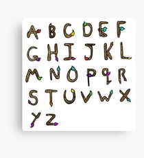 cartoon alphabet Canvas Print