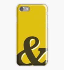 Gold & Brown Ampersand / Typographic Design iPhone Case/Skin